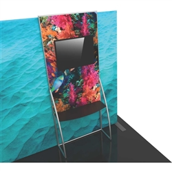 Formulate Backwall Accent 10 adds a stunning graphic accent to any tradeshow display. This one-of-a-kind Formulate accessory works with either 10' or 20' backwalls and includes its own frame and pillowcase graphic.
