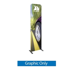 Formulate Tension Fabric Essential Banner 600 Straight with Double-Sided Graphic features a simple straight bungee-corded tube frame and a fabric graphic that simply slips over the frame. Perfect for any environment - from retail to trade show!