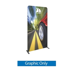 Single-Sided Graphic for Formulate Tension Fabric Essential Banner 1200 Straight features a simple straight bungee-corded tube frame and a fabric graphic that simply slips over the frame. Perfect for any environment - from retail to trade show!