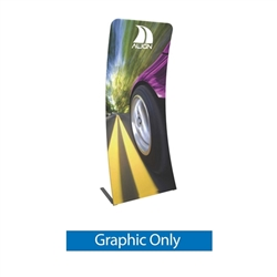 Graphic for Formulate Essential Tension Fabric Banner 920  Curved features a simple straight bungee-corded tube frame and a fabric graphic that simply slips over the frame. Perfect for any environment - from retail to trade show!