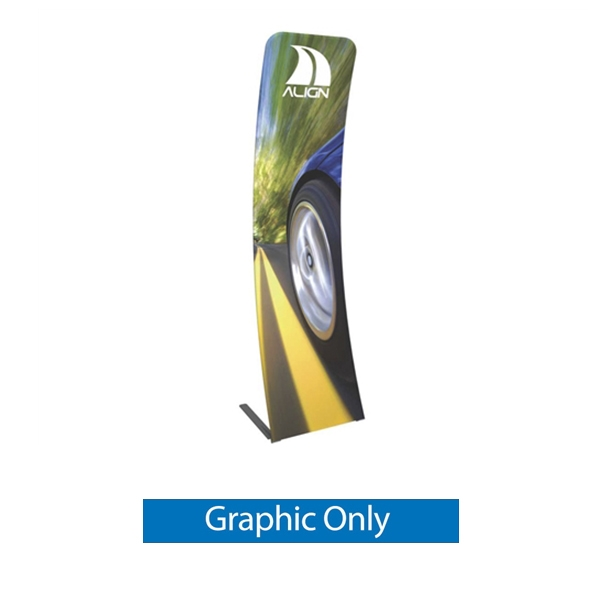 Graphic for Formulate Essential Tension Fabric Banner 600 Curved features a simple straight bungee-corded tube frame and a fabric graphic that simply slips over the frame. Perfect for any environment - from retail to trade show!