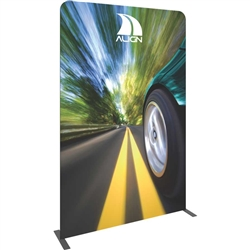 "The Formulate Essential Banner 1500 - Straight measures 59""W, 92""H and features a simple straight bungee-corded tube frame and a fabric graphic that simply slips over the frame. Perfect for any environment - from retail to trade show! 2"