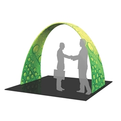 8ft w x 10ft h Formulate Arch 02 Fabric Display Hardware and Fabric give you the ability to turn your show space into a captivating exhibit! Easily create and define a stunning entryway, focal point or stage set at your next tradeshow or event