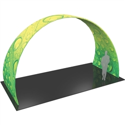 20ft w x 12ft h Formulate Arch 03 Fabric Display Hardware and Fabric add architecture and design to any event or interior space! Easily create and define a stunning entryway, focal point or stage set at your next tradeshow or event with Formulate Arches.