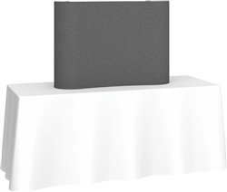 4ft Deluxe Coyote Curved Fabric Pop Up Trade Show 1x1 Tabletop Display combines strength and reliability with style and ease of use. Named popup because of its small to large pop-up action, coyote display system is still one of the most portable exhibits