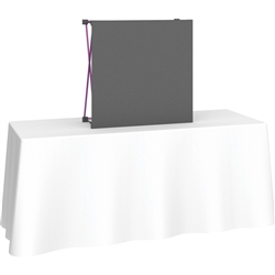 4ft Deluxe Straight Curved Fabric Pop Up Trade Show 1x1 Tabletop Display combines strength and reliability with style and ease of use. Named popup because of its small to large pop-up action, coyote display system is still one of the most portable exhibit