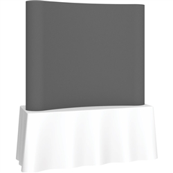 6ft Deluxe Coyote Curved Full Fabric 2x2 Trade Show Tabletop Display - Portable Display Kits are lightweight, compact, and quick to setup displays that make a big impact at any trade show event!
