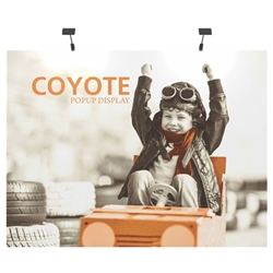 Deluxe Coyote Straight Frame Full Graphic Mural Pop Up Trade Show 8ft (3x3) Floor Fast Exhibit Kits combines strength and reliability with style and ease of use. Named popup because of its small to large pop-up action, this type of display system
