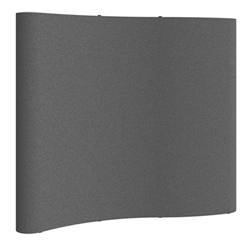 Deluxe Serpentine Coyote 8ft Full Fabric Panel Fast Kit tradeshow Backwall display. Stand out at your next event with the stunning and quality look of the Horseshoe Pop up for trade shows. Molded shipping cases will protect exhibit as you travel.