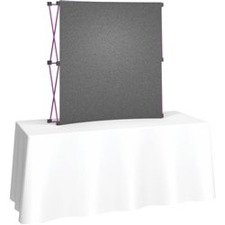 Deluxe Coyote Fabric Pop Up Trade Show 5ft (2x2)  Tabletop Display Kit. Table top trade show displays will captivate onlookers and draw potential clients into your booth area. Choose from a wide range of lightweight portable tabletop exhibit displays