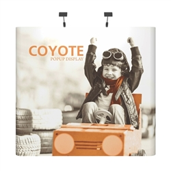 Deluxe Coyote Mini 4ft (1x1) Graphic Tabletop Display combines strength and reliability with style and ease of use. Named popup because of its small to large pop-up action, this type of display system is still one of the most portable