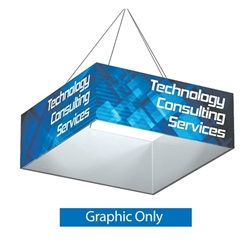8ft x 2ft Replacement Single Sided Fabric. Square Formulate Hanging Banner can be seen from great distances making this sign a great choice for tradeshow events and in store P.O.P. displays. Sized from 8 to 20 feet, your hanging banner cannot be ignored.