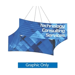 8ft x 2ft Replacement Double-Sided Printed Fabric for Concave Square Hanging Banner. Hanging ceiling banner can be seen from great distances making this sign a great choice for tradeshow events and in store P.O.P.