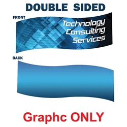 8ft x 2ft Replacement Double Sided Fabric for S-Curve Shaped Hanging Banner. Hanging Banners offers a perfectly surface for your graphics and messaging from anywhere on the trade show  floor, and can be single or double-sided.