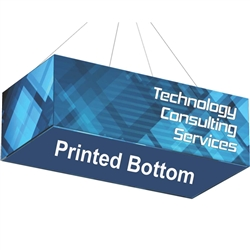 10ft x 5ft x 5ft Formulate Rectangle Hanging Ceiling Sign with Printed Bottom offers a simple, 4 sided structure for your graphics and messaging from anywhere on the trade show or event floor floor. Draw in a crowd from the stunning, Rectangle Hanging Si