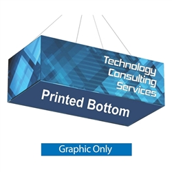 Replacement Fabric with Printed Bottom for 8ft x 4ft x 2ft Rectangle Hanging Banner. Formulate Rectangle Hanging Banner Display offers a simple, 4 sided structure for your graphics and messaging from anywhere on the trade show or event floor floor.