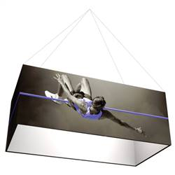 12ft x 6ft x 2ft Formulate Single-Sided Rectangle Hanging Banner Display offers a simple, 4 sided structure for your graphics and messaging from anywhere on the trade show or event floor floor. Draw in a crowd from the stunning, Rectangle Hanging Sign