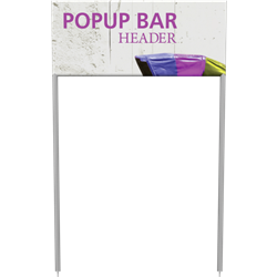 Popup Bar Large Header is a perfect display for product demonstrations, samples and promotions.