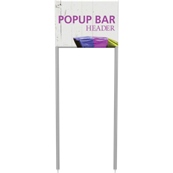 Popup Bar Mini Header is a perfect display for product demonstrations, samples and promotions.