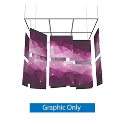 15ft x 13ft Square Mobile Designer Series Double-Sided Hanging Banner Displays are professional suspended ceiling hanging banner displays that give your booth a one of a kind look. Hanging Sign Ceiling Banner Double-Sided Fabric Graphics.