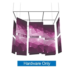 15ft x 13ft Formulate Square Mobile Designer Series Double-Sided Hanging Banner Displays are professional suspended ceiling hanging banner displays that give your booth a one of a kind look. Hanging Sign Ceiling Banner With Stretch Fabric Graphics.