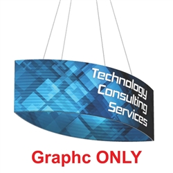 8ft x 2ft Replacement Double-sided Fabric for Football Formulate Hanging Double Sided Fabric Signs are made in the USA and are of the utmost quality and durability. Place this football-shaped Hanging Sign over your booth and watch the crowds roll in!