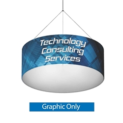 8ft x 2ft Formulate Single-Sided Round Hanging Ceiling Banner Display offers a simple, round structure for your graphics and messaging from anywhere on the trade show or event floor floor. Circular Ring Hanging Sign is a great hanging sign solution
