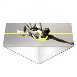 18ft x 4ft Formulate Single-Sided Triangle Hanging Banner Display offers a simple, 3 side structure for your graphics and messaging from anywhere on the trade show or event floor floor. Triangle Hanging Sign is a great hanging sign solution