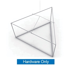 8ft x 3ft Formulate Essential Triangle Hanging Banner Display Hardware offers a simple, 3 side structure for your graphics and messaging from anywhere on the trade show or event floor floor. Triangle Hanging Sign is a great hanging sign solution