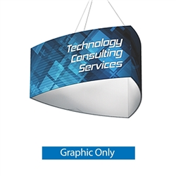 8ft x 2ft Replacement Single-sided Graphic for 8ft x 2ft Three Sided (Shield) Formulate Hanging Tension Fabric Sign. Made in the USA and are of the utmost quality and durability, attract and command attention to your trade show booth from many trade show.