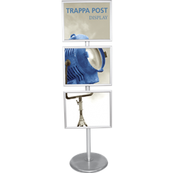 24in W x 36in H Trappa Straight Post Sign Stand
