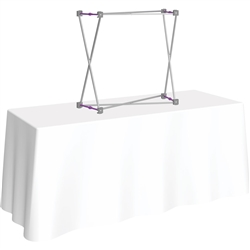 30in x 30in HopUp Straight 1x1 Tabletop Display Hardware Only has a light weight, heavy duty frame that holds a fabric graphic mural. Durable stretch fabric graphic stays attached to the HopUp frame for fast and efficient use.