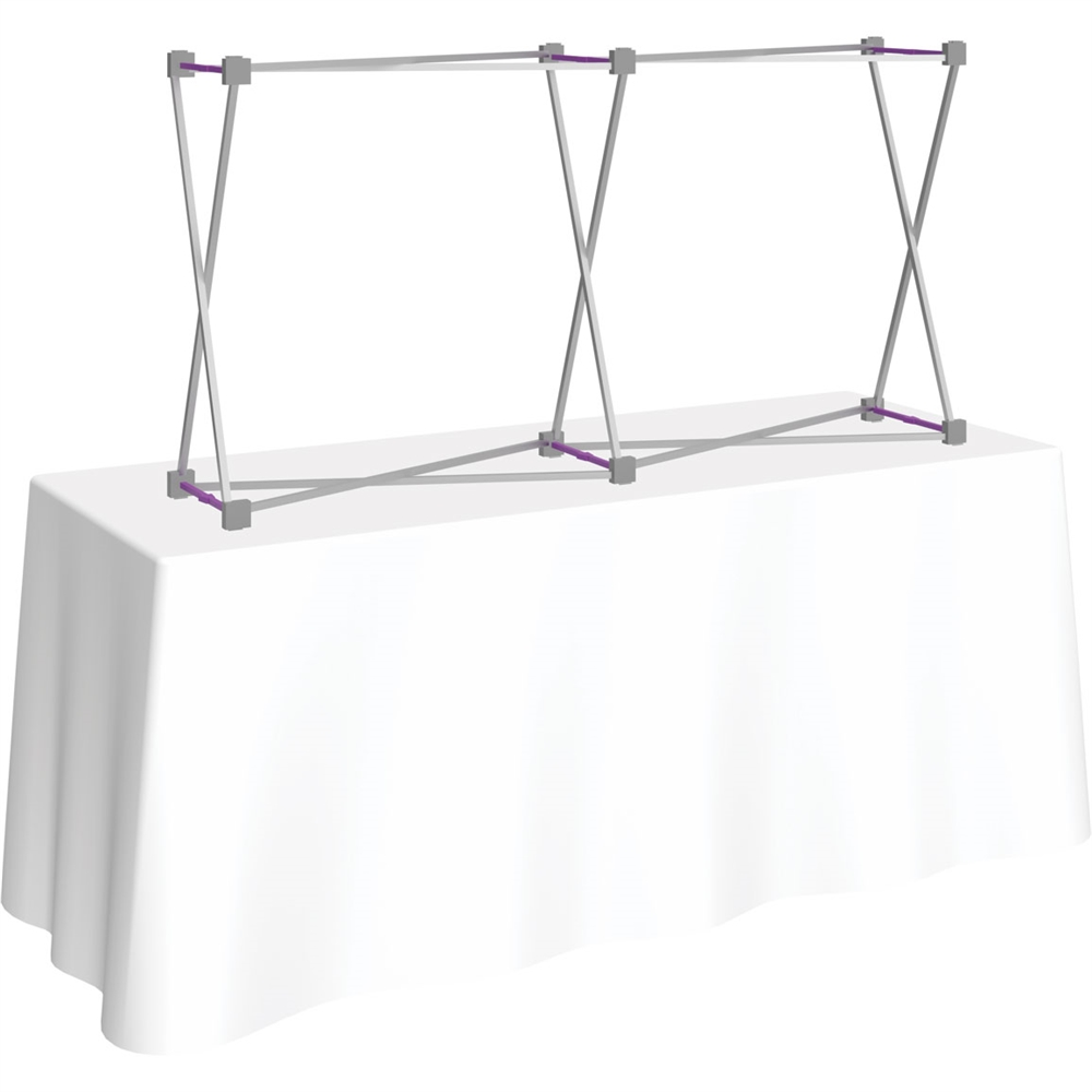 5ft Straight HopUp 2x1 Tabletop Fabric Display Hardware only