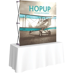 5ft X 5ft Straight HopUp 2x2 Tabletop Fabric Display with Front Graphic is a lightweight and versatile trade display solution for users who need an exhibit that sets up in seconds. Portable, Vibrant Table Top Displays