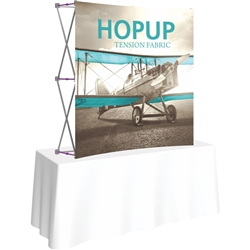 5ft X 5ft Curved HopUp 2x2 Tabletop Fabric Display with Front Graphic is a lightweight and versatile trade display solution for users who need an exhibit that sets up in seconds. Portable, Vibrant Table Top Displays
