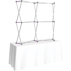 5ft X 5ft Curved HopUp 2x2 Tabletop Fabric Display Hardware Only is a lightweight and versatile trade display solution for users who need an exhibit that sets up in seconds. Portable, Vibrant Table Top Displays