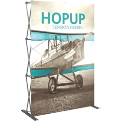 5ft Orbus Hopup Floor 2x3 Straight Fabric Trade Show Display with Front Graphic is lightweight, highly portable, and requires almost no set-up time! Fabric popup displays are the FASTEST booth on the market to setup. The one piece Pop Up Display.