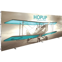20ft x 8ft Hopup Floor 8x3 Straight Fabric Display with Front Graphic is the largest among Hop Up trade displays, making it the perfect way to stand out against the competition.