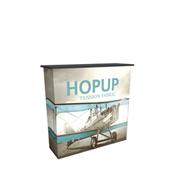 4 ft HopUp Tradeshow Collapsible Display Counter with Fabric Print.HopUp Tradeshow Collapsible Display Counter with Fabric Print is portable and lightweight, making an ideal counter option for your next trade show event. HopUp Display Counter - Collapsibl
