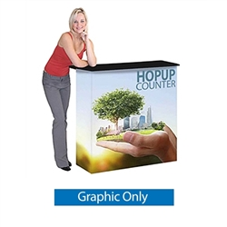 HopUp Tradeshow Collapsible Display Counter Graphic Only is portable and lightweight, making an ideal counter option for your next trade show event. HopUp Display Counter - Collapsible counter top, custom front and side graphics, with internal shelf