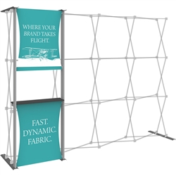10ft Hopup 4x3 Backwall Display Dimension Accessory Kit 04 includes stand-off counter with 2 fabric graphics, monitor mount and 2 lumina 200 lights. Hopup is one of the most popular large format graphic exhibits