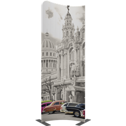 3ft x 8ft Modulate Frame Banner 03  -  is a stylish way to display media at any tradeshow, event, retail, corporate spaces. Modulate Fabric Banners feature unique angles and shapes, are portable and easy to assemble.