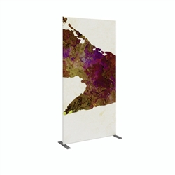 4ft x 8ft Modulate Frame Banner 13  -  is a stylish way to display media at any tradeshow, event, retail, corporate spaces. Modulate Fabric Banners feature unique angles and shapes, are portable and easy to assemble.