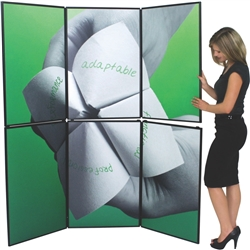 6ft x 7ft Horizon 6 Folding Display Panel System is a quick to set up, easy to use display system created specifically to hold your custom graphics. Available in several shapes and sizes, you can find the Horizon that is right for you.