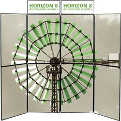 Horizon 8 Folding Display Panel System is a quick to set up, easy to use display system created specifically to hold your custom graphics. Available in several shapes and sizes, you can find the Horizon that is right for you.