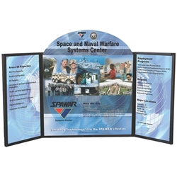 4ft Voyager Maxi 3 Panel Briefcase Tabletop Display is one of the most compact and convenient methods of promoting your business at trade shows and exhibitions. Table top displays for trade show features fabric panels of varying sizes and shapes.