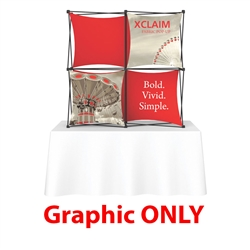 Replacement Fabric for 5ft Xclaim 3-D PopUp Table Top Display Kit 01. Portable tabletop displays and exhibits. Several different styles are available, including pop up frames with stretch fabric or fold up panels with custom graphics.