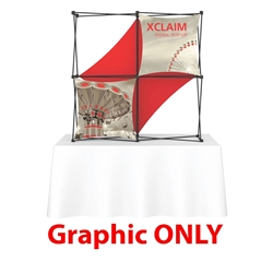 Replacement Fabric for 5ft Xclaim 3-D PopUp Table Top Display Kit 03. Portable tabletop displays and exhibits. Several different styles are available, including pop up frames with stretch fabric or fold up panels with custom graphics.