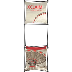 2.5ft Xclaim 3-D PopUp Table Top Display Kit 03 with Full Fabric Graphics. Portable  displays and exhibits. Several different styles are available, including pop up frames with stretch fabric or fold up panels with custom graphics.