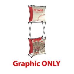 Replacement Fabric for 2.5ft Xclaim 3-D PopUp Table Top Display Kit 03. Portable displays and exhibits. Several different styles are available, including pop up frames with stretch fabric or fold up panels with custom graphics.